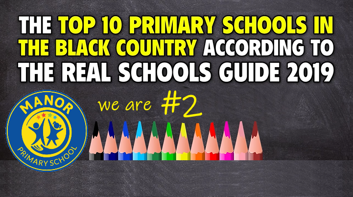 Manor Primary 2nd in the Top 10 the Black Country Schools