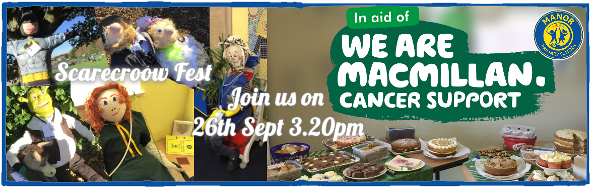 Macmillan Cake Sale and Scarecrow Fest